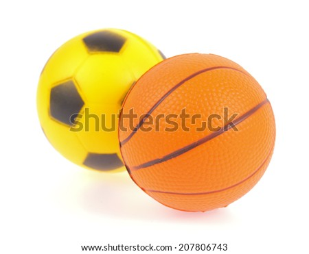 balls isolated on a white background