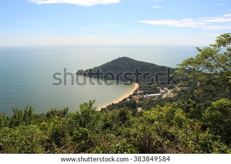 Balneario Camboriu  - Brazil - Laranjeiras Beach - stock photo