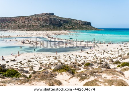 Balos bay in Greece Crete