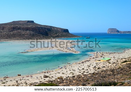 Balos beach and Gramvousa island on Crete, Greece