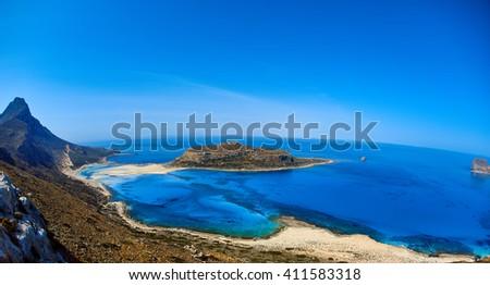 Balos beach, Crete - stock photo