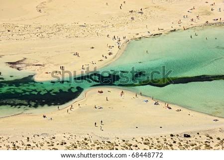 Balos beach in Crete - stock photo