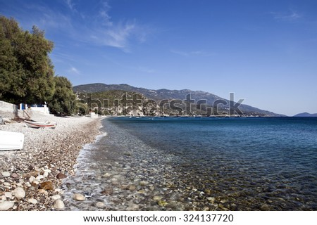 Balos beach, Samos, Greece - stock photo