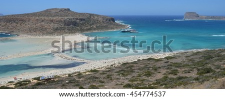 Balos Lagoon and Gramvousa Island in Crete, Greece