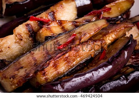 Balsamic Grilled Eggplant makes a wonderfully fresh, healthy, and filling warm weather  Side Dish or Appetizer Recipe.