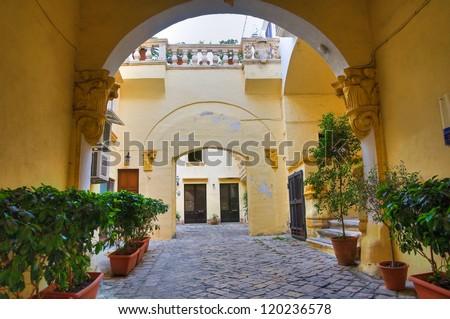Balsamo palace. Gallipoli. Puglia. Italy. - stock photo