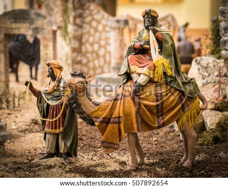 Balthazar wise man going to Bethlehem
