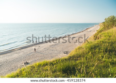 Baltic sea beautiful coast in summer. - stock photo