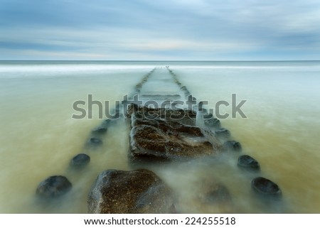 Baltic Sea Coast in north Poland/Baltic Sea Coast - stock photo