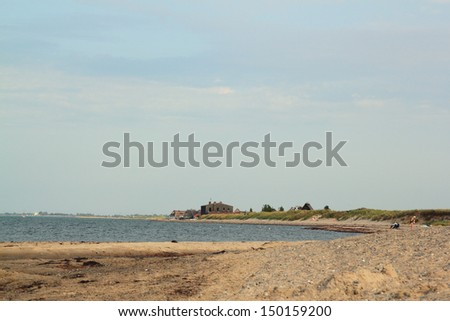 baltic sea coast near Heiligenhafen - stock photo