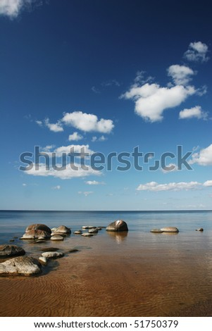 Baltic sea coast near the Riga (Latvia) - stock photo