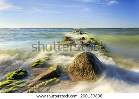 Baltic Sea in north Poland - stock photo