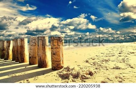 Baltic sea. MANY OTHER PHOTOS FROM THIS SERIES IN MY PORTFOLIO. - stock photo