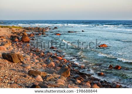 Baltic sea shore, Hiumaa island, Estonia - stock photo