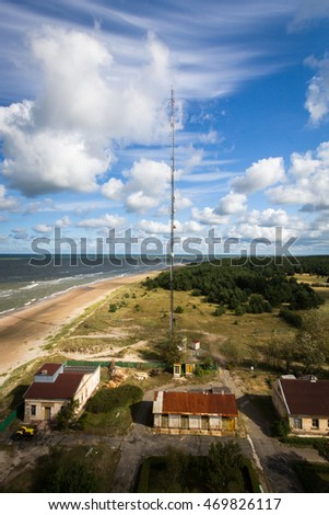 Baltic sea view with clouds