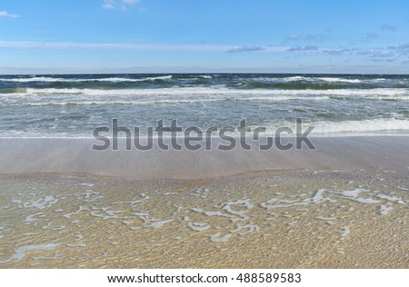 Baltic Sea - water waves.