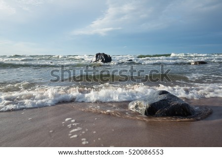 Baltic sea with waves