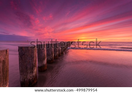 Baltic seascape at sunset, Poland