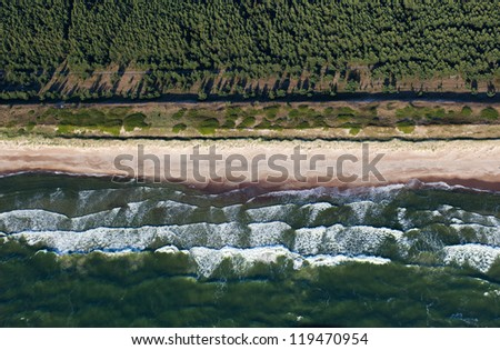Baltic seashore at summer near Palanga, Lithuania - stock photo