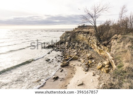 Baltic seashore cliff