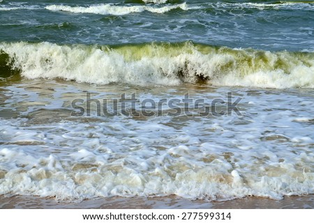Baltic surf - stock photo