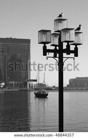 Baltimore in black and white