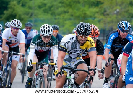 BALTIMORE, MARYLAND - MAY 19: Unidentified cyclists compete at BikeJam on May 19, 2013 in Baltimore, Maryland