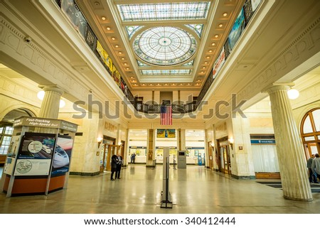 BALTIMORE - OCT 21: Penn station in Baltimore, Maryland on October 21, 2015