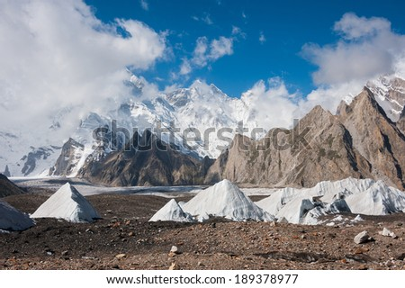 Baltoro glacier and Karakoram mountain range, Pakistan
