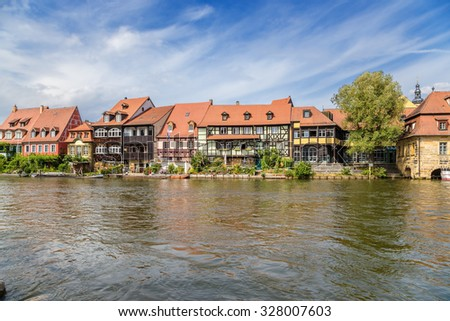 Bamberg, Germany. Small Venice - the former fishing village of the 17th century