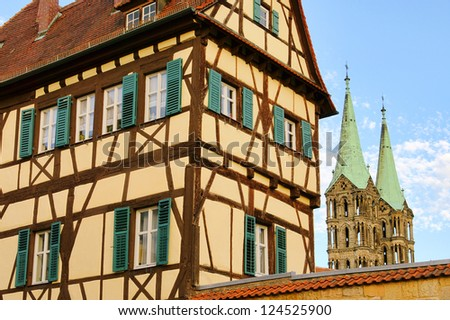 Bamberg half-timber house - stock photo