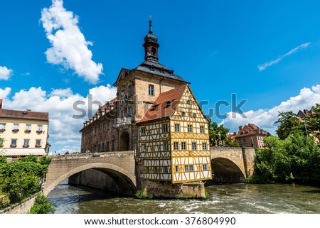 Bamberg - historical city in germany - stock photo