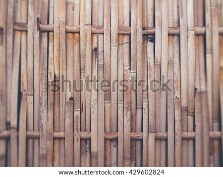 Bamboo background (Vintage filter effect used) - stock photo