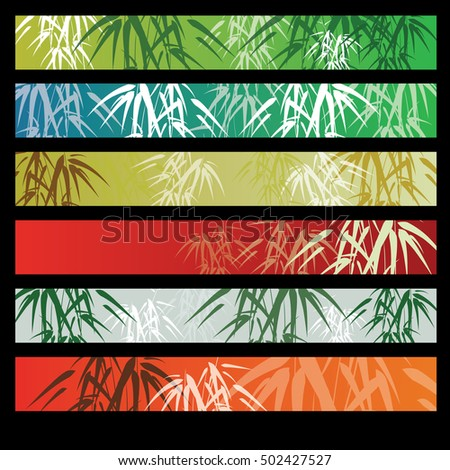 Bamboo background with banner