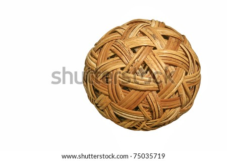 Bamboo ball - stock photo