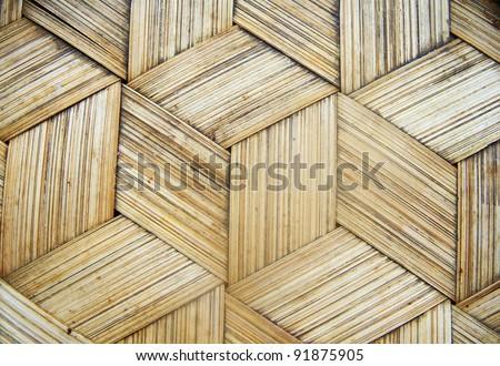 bamboo basket texture, Thai handcraft - stock photo