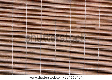 Bamboo blind curtain background - stock photo