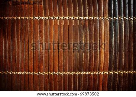 bamboo blinds background - stock photo