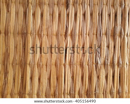 Bamboo brown straw serving mat  - stock photo