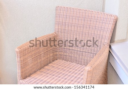 Bamboo chair closeup - stock photo