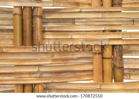 Bamboo Construction pattern (close up) - stock photo