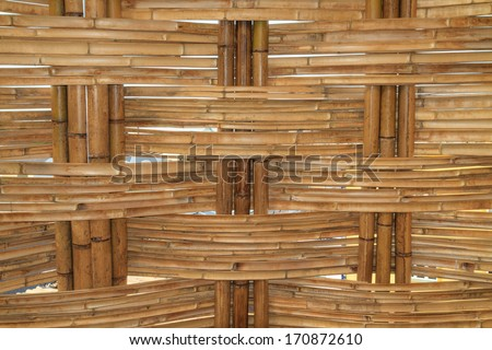 Bamboo Construction pattern (close up) - stock photo