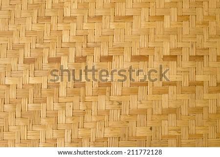 bamboo craft texture - stock photo