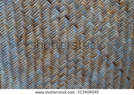 bamboo craft, wood weave texture - stock photo