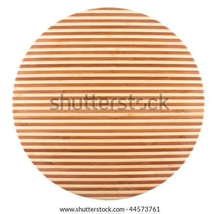 Bamboo cutting board - stock photo