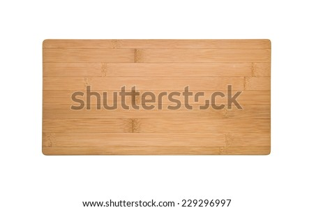 bamboo cutting board isolated