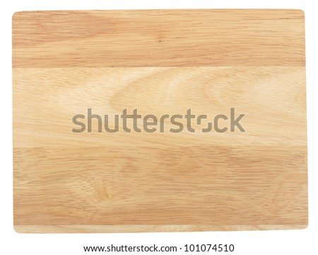 Bamboo cutting board. Isolated on white - stock photo