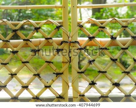 Bamboo fence.Bamboo door. & Bamboo Fencebamboo Door Stock Photo (Royalty Free) 407944699 ...