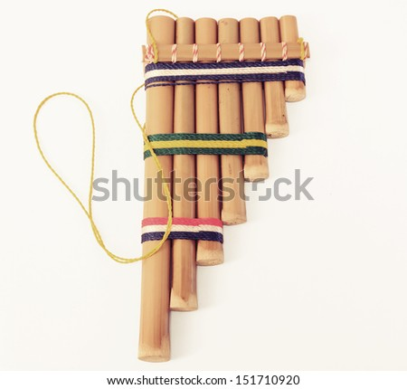 Bamboo flute - stock photo