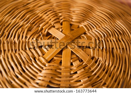 Bamboo lid - stock photo